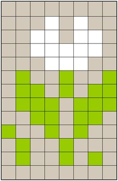 Snowdrop knitting chart