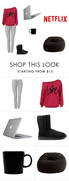 """""""What to Wear:Netflix Binge"""" by taytaymonty ❤ liked on Polyvore featuring Zoe Karssen, Speck, UGG, iittala and Comfort Research"""