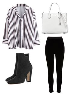"""Simple Button Up Outfit"" by mandaanguyen on Polyvore featuring River Island and MICHAEL Michael Kors"