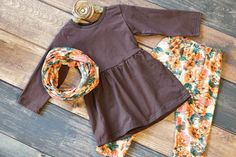 It's our Outfit of the Month for August!  A sweet Fall floral pant set from just $11.70!