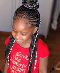 Little Black Girls Braids, Little Girls Natural Hairstyles, Little Girl Braid Styles, Little Girl Braid Hairstyles, Black Girl Braided Hairstyles, Braid Styles For Kids, Natural Hair Braids, Natural Hair Styles, Braids For Kids