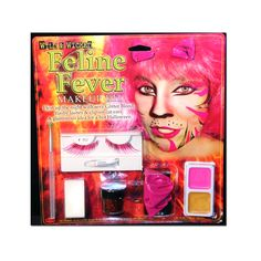 Feline Fever Pink Cat Ears & Lashes Makeup Kit