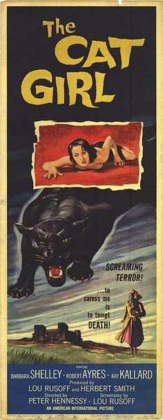 The Cat Girl (1957) - what a gorgeous vintage poster