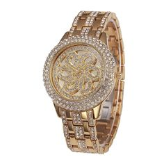 Cheap dress dye, Buy Quality dress slim directly from China dress for success women Suppliers: New Style Top Luxury Watches High Quality Hot Sales Women Crystal Quartz Watch Lady Flower Full Rhinestone Dress Wristwatches Diamond Quartz, Quartz Crystal, Luxury Watches, Women's Watches, New Style Tops, Vintage Watches Women, Rhinestone Dress, Elegant Flowers, Quartz Watch