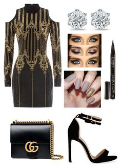"""New Years Eve"" by maryg1999 ❤ liked on Polyvore featuring Balmain, Gucci and Smith & Cult"