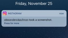 """PSA: Instagram notifies your friend when you screenshot their DMs Read more Technology News Here --> http://digitaltechnologynews.com  Instagram's latest Snapchat plagiarism update lets you send self-destructing messages to your friends  an excellent feature for sexy time. Just know that your friend will be notified if you take a screenshot of their message.  SEE ALSO: Instagram makes live video official as it turns up the heat on Snapchat  Buzzfeed remarked Friday that people are """"freaking…"""
