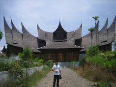Rumah gadang sumatra barat Indonesia.