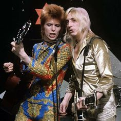 """vezzipuss.tumblr.com — David Bowie & Mick Ronson, On the TV Show """"Lift..."""