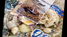 ''Summer Ocean'' - Mixed Media Layout Tutorial for ''My Creative Scrapbook''