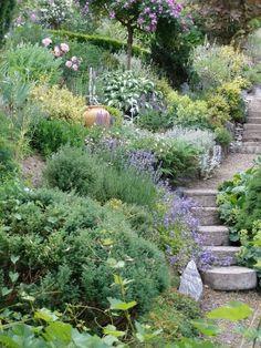 interesting tuscan garden design ideas for you inspiration 32 Hillside Garden, Sloped Garden, Terrace Garden, Garden Paths, Hill Garden, Terrace Ideas, Tuscan Garden, Garden Cottage, Steep Gardens