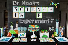 Science Party  Scientist Birthday  Boys by LillianHopeDesigns