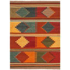 Flat Weave Tribal Pattern Red/ Multi Wool Area Rug (8' x 10')