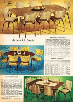 Furniture Guide For Minecraft Product Vintage Interiors, Vintage Home Decor, Vintage Kitchen, Vintage Table, Inexpensive Furniture, Unique Furniture, Outdoor Furniture Sets, Modern Colors, Mid-century Modern