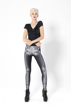 Leg Bones 2.0 Leggings › Black Milk Clothing