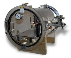 Clear Vacuum Chamber for Analytical Instrumentation.