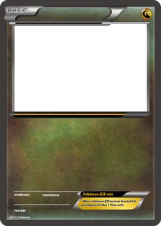 DeviantArt: More Collections Like BW Pokemon-EX black card blank template by The-Ketchi