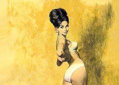 Robert McGinnis: Modesty Blaise (Detail) - Da: Cobra Trap - Come muoiono gli eroi /2