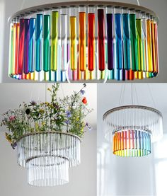 Test tube chandelier! <3 Right over my future dining periodic table, please ;)