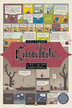 candide by voltaire. loved it, cover by chris ware