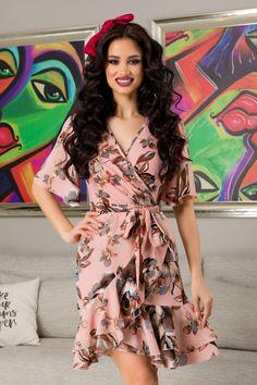 Wrap Dress, Floral, Dresses, Fashion, Vestidos, Moda, Fashion Styles, Flowers, Dress