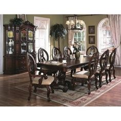 gorgeous dining room plus look at that cabinet where you display your fine china/glass or full teasets!!!  MUST HAVE!!!