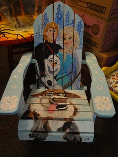 Frozen Chair designed by Connie Ramos (2015 Chair-ity Event)