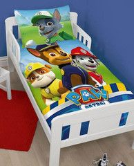 PAW PATROL ~ 'Rescue Panel' Toddler/Cot Bed Quilt Set