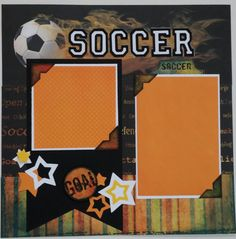 Soccer  Sports  premade scrapbook layout page by ohioscrapper, $15.00