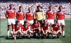 Soccer Nostalgia: Old Team Photographs-Part England National Football Team, National Football Teams, England Vs Spain, 1982 World Cup, England International, Retro Football, Nostalgia, Soccer, Sports