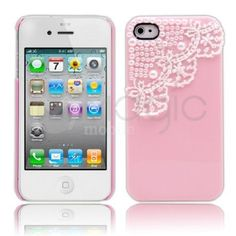 MagicMobile Cute Hard Pearl Lace Case For Apple iPhone 4 4S Hard Pink Cover & Charm Screen Protector Stylus MagicMobile
