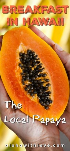 Papayas are everywhere in Hawaii and it's one fruit that you shouldn't miss when you visit! There are a variety of local papayas sold here and they are oh so sweet!