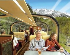 Alaskan glass top train cruise - great way to see the north without freezing my butt off lol