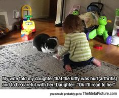 Being Careful With The Kitty