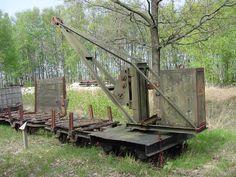 Feldbahn-Kranwagen