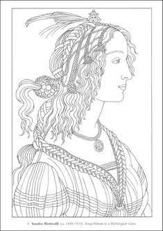 Color Your Own Italian Renaissance Paintings (Dover Masterpieces) | Additional Photo (Inside Page)