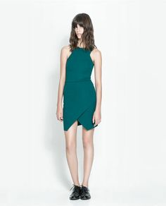 Image 1 of DRESS WITH CROSSOVER SKIRT from Zara (also in black)  $39.90