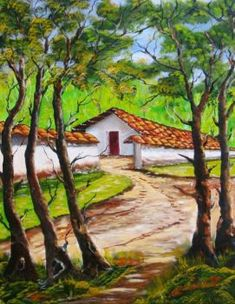 A virtual jigsaw puzzle from Jigidi Beautiful Landscape Photography, Beautiful Landscapes, Picture Folder, Mosaic Tile Art, Caribbean Art, Silhouette Art, Country Art, Pastel Art, Nature Paintings