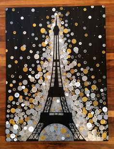 Eiffel Tower Painting//Paris Painting by GreenOnTheVineDesign