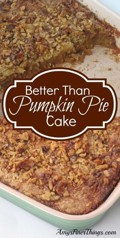 Fall desserts: Pumpkin Pie Cake, Carmel Apple Pizza from Amy's Finer Things
