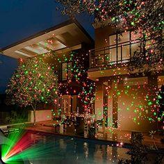 Remote controllable Laser Christmas Lights, laser Garden and decoration lights, LED Lights.