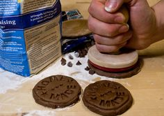 home-made cookie stamper... to state the obvious for your, ah, home-made cookies!
