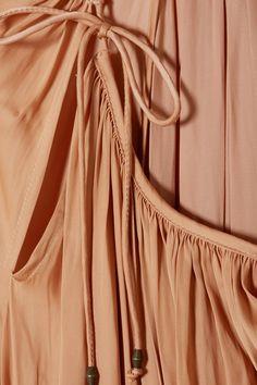 Ulla Johnson | Adonia smocked smocked sateen maxi dress | NET-A-PORTER.COM Ulla Johnson, Smocking, Wrap Dress, Blush, Beige, Dresses, Fashion, Vestidos, Moda