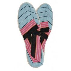 Espadrilles rayées #turquoise #pink #shoes #summer #beach