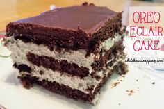 While He Was Napping: Oreo Eclair Cake http://www.whilehewasnapping.com/