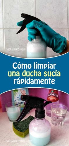 Cómo limpiar una ducha sucia rápidamente Cleaning Hacks, Cleaning Supplies, Power Clean, Home Based Business, Home Hacks, Housekeeping, Home Remedies, Health And Wellness, Shower Cleaning