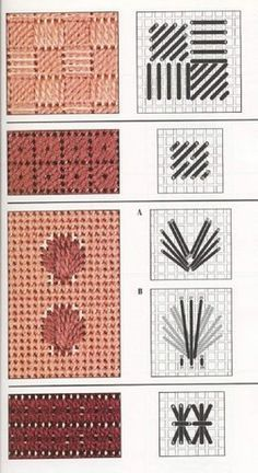How to work on a needlepoint tapestry kit. Broderie Bargello, Bargello Needlepoint, Needlepoint Stitches, Plastic Canvas Stitches, Plastic Canvas Crafts, Plastic Canvas Patterns, Cross Stitching, Cross Stitch Embroidery, Bargello Patterns