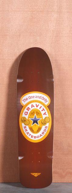 "Gravity 35"" Brown Ale Longboard Deck"