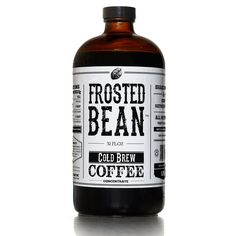 Frosted Bean: Cold Brew Concentrate 12 Pack (so you'll never go uncaffeinated) Jar Packaging, Coffee Packaging, Coffee Branding, Iced Coffee, Coffee Time, Coffee Shop, Cold Brew Coffee Concentrate, Nitro Coffee, Label Design