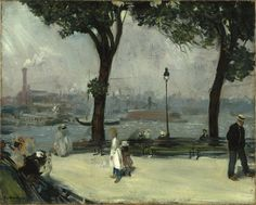 East River Park, c.1902 by William Glackens (American, 1870–1938)