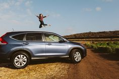 Jumping for joy with the CR-V. #Outdoors
